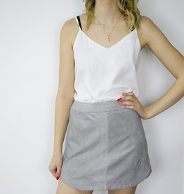 BB DAKOTA Suede Skirt GREY