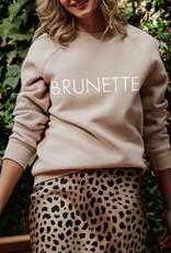 BRUNETTE  the label BRUNETTE Crew, Almond