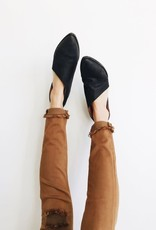 FREE PEOPLE Flat Royale Shoe, BLACK leather