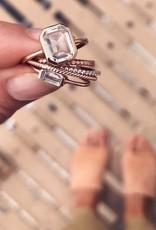 LEAH ALEXANDRA Emerald Cut Ring