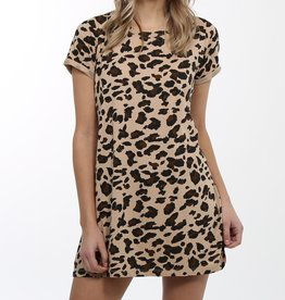 BRUNETTE  the label Leopard TShirt Dress