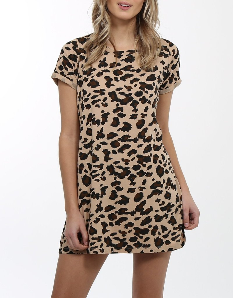 BRUNETTE  the label Leopard TShirt Dress