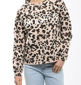 BRUNETTE  the label Brunette Leopard Crew