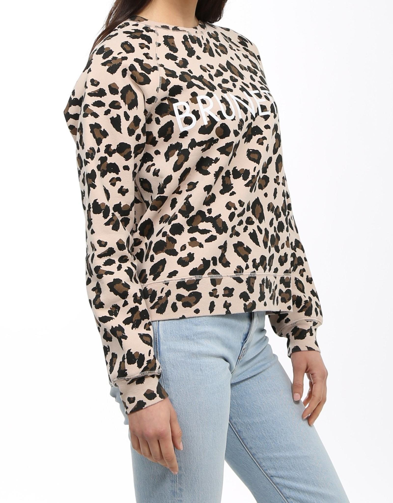 BRUNETTE  the label Brunette Leopard Crew