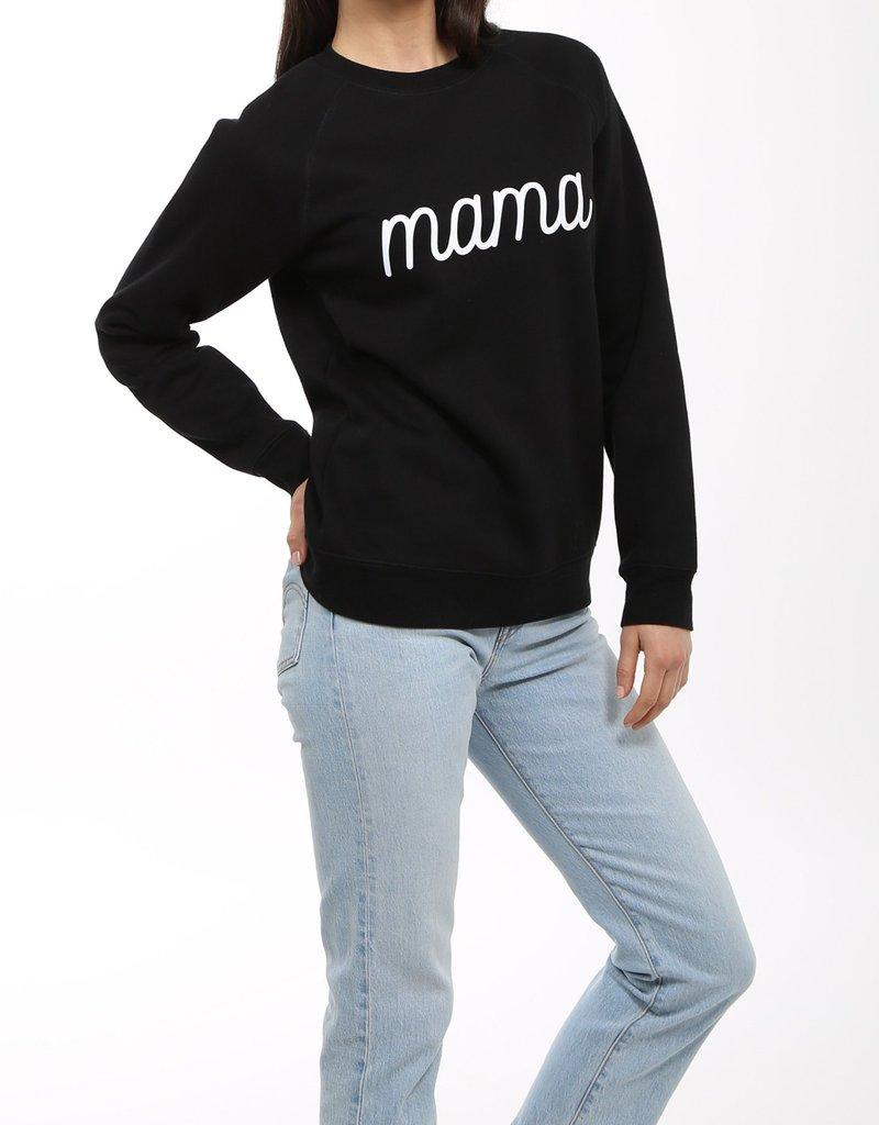 BRUNETTE  the label MAMA cursive crew sweater