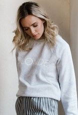 BRUNETTE  the label Blonde Crew Sweater