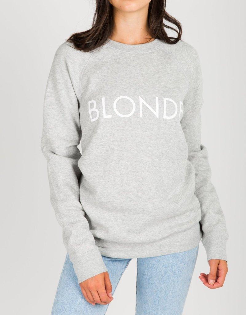 BRUNETTE  the label Blonde Crew Sweater