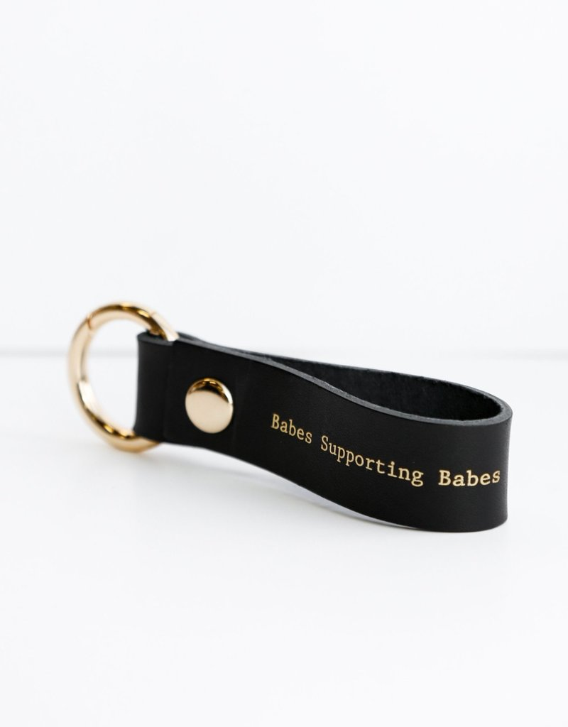 BRUNETTE  the label Babes Key Chain BRUNETTE LABEL