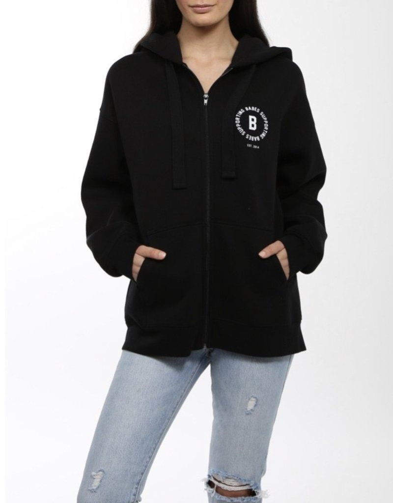 BRUNETTE  the label Babes Zipper Hoodie