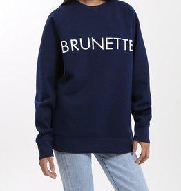 BRUNETTE  the label BRUNETTE Navy Crew, L/XL