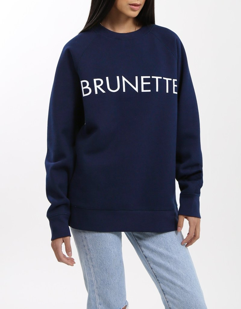 BRUNETTE  the label BRUNETTE Navy Crew, L/XL