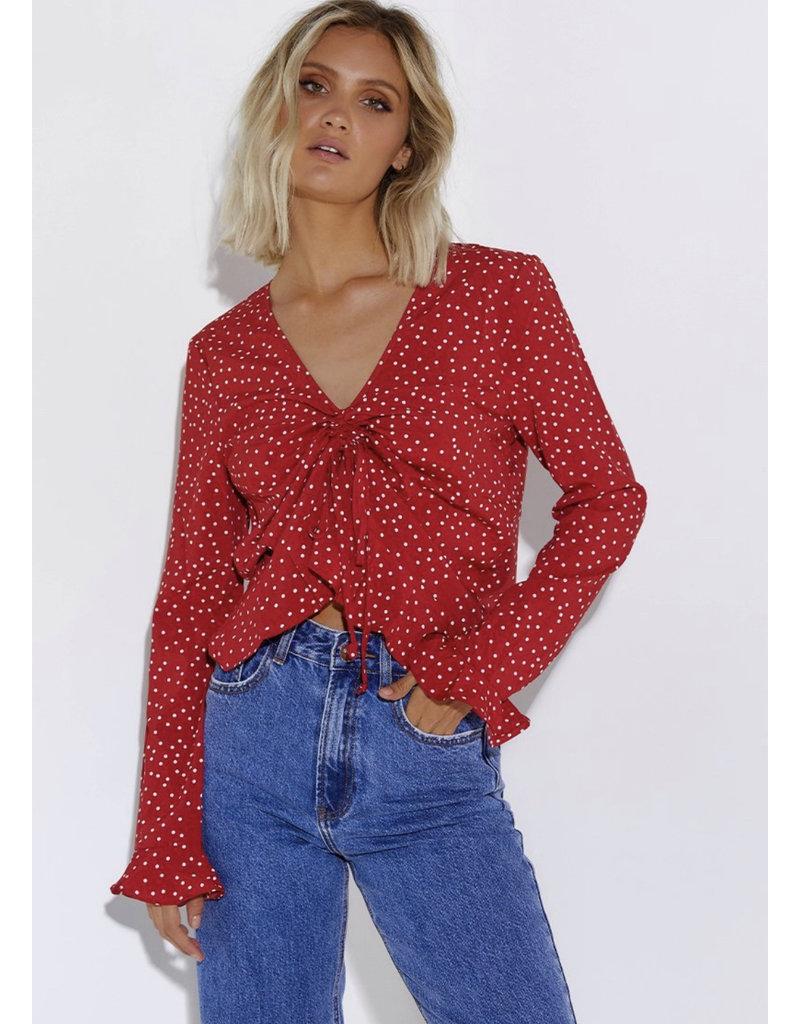 SNDYS Polka dot blouse