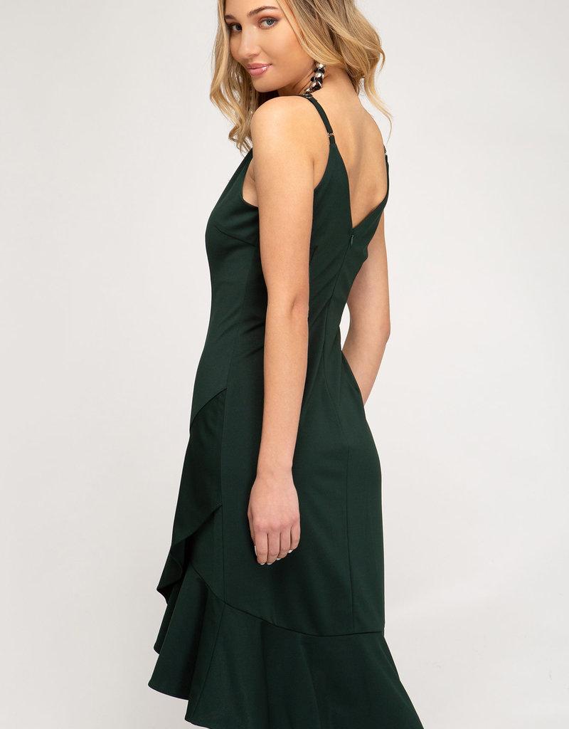 LeBLANC finds Cami Flounce Dress