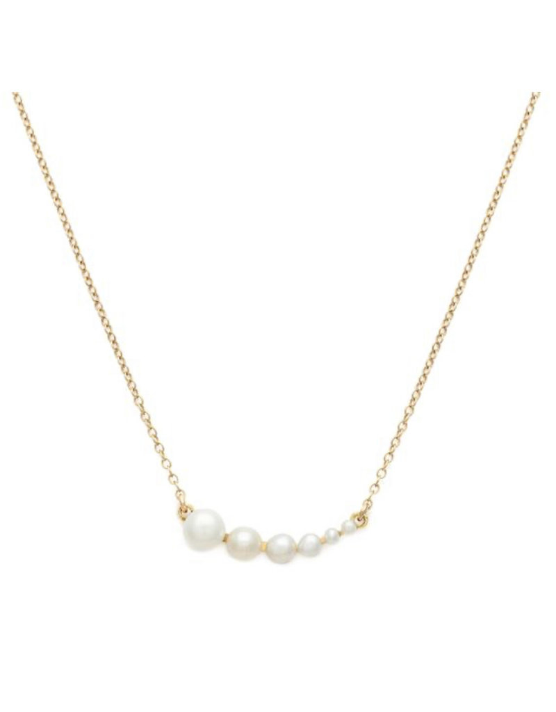 LEAH ALEXANDRA Rive Gold Necklace, Pearl