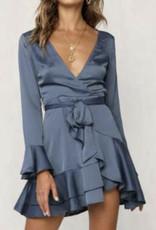 Beautiful textured fabric , Bell Sleeved Dress