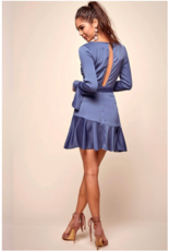 LeBLANC finds Beautiful textured fabric , Bell Sleeved Dress