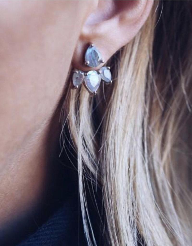 LEAH ALEXANDRA Leahalx SUNNY ear jacket, LABRADORITE, Silver