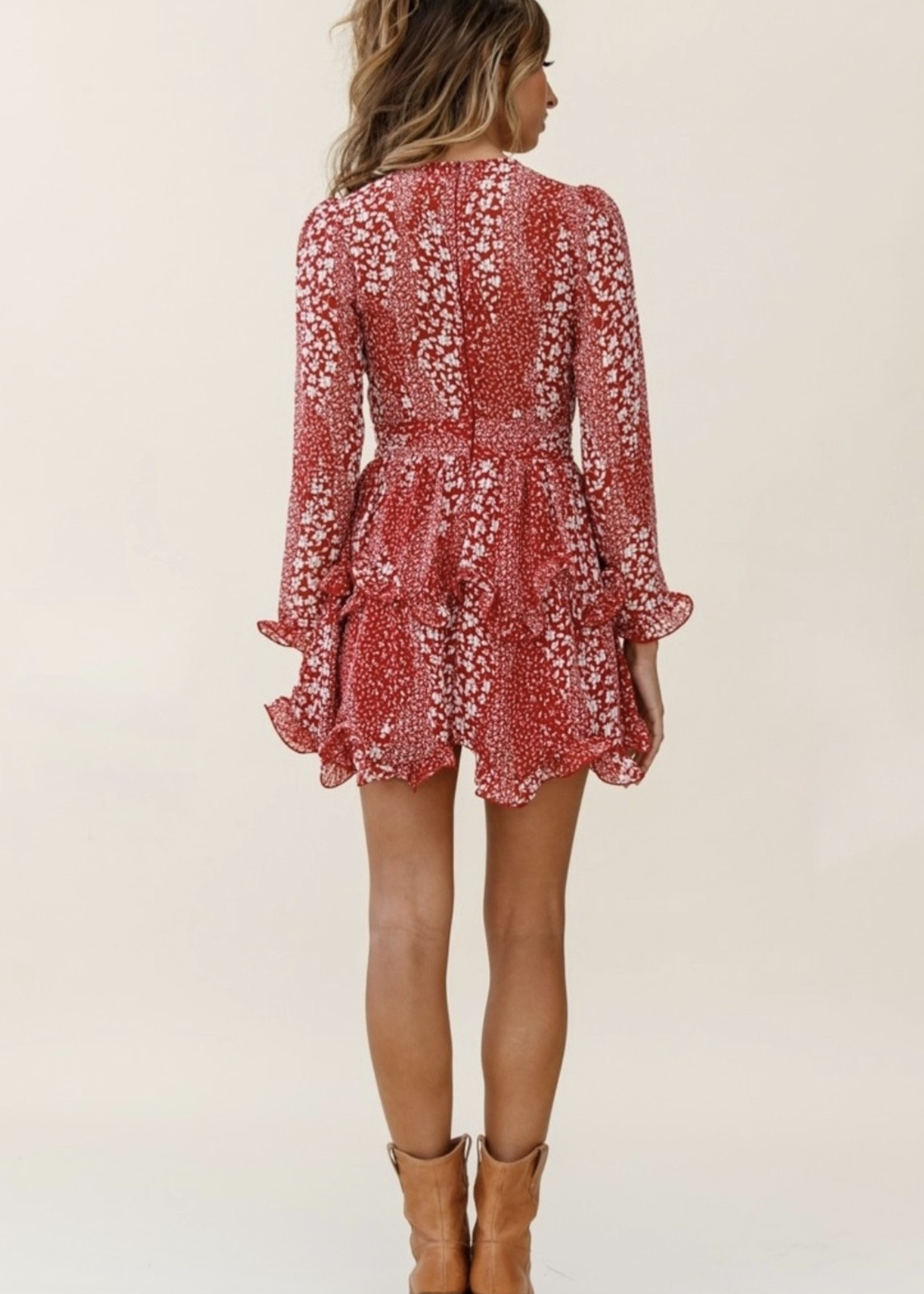 LeBLANC finds Floral Print L/S Dress