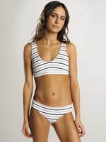 JUNE Swimwear Daisy Bikini Bottom, Stripe