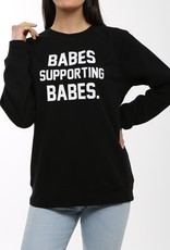 BRUNETTE  the label BRUNETTE THE LABEL BABES SUPPORTING BABES CREW BLACK