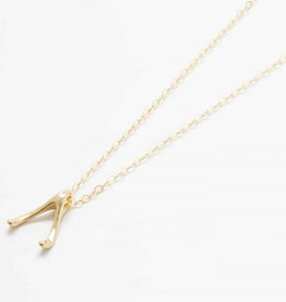 LeBLANC finds Wishbone Necklace, 14k gold fill chain