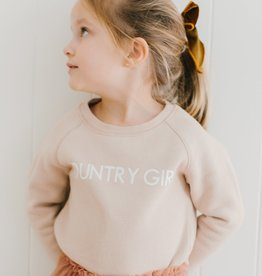 BRUNETTE  the label Little Babes COUNTRY GIRL crew sweater