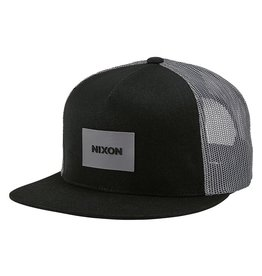 NIXON TEAM TRUCKER snapback hat, BLK/ GREY