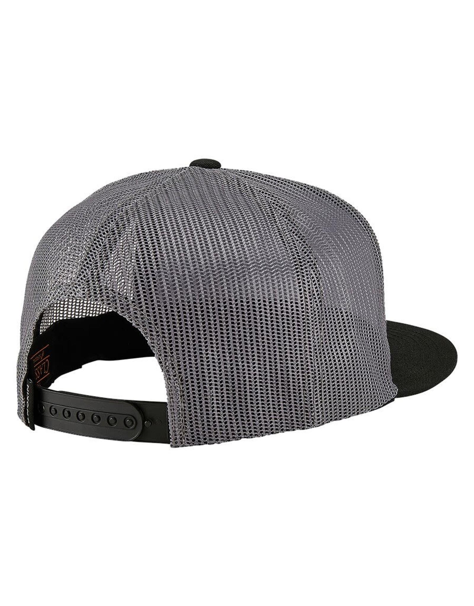NIXON TEAM TRUCKER snapback hat, BLK/ GREY