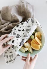GOLDILOCKS wraps BLACK FLORAL food wraps set of 3