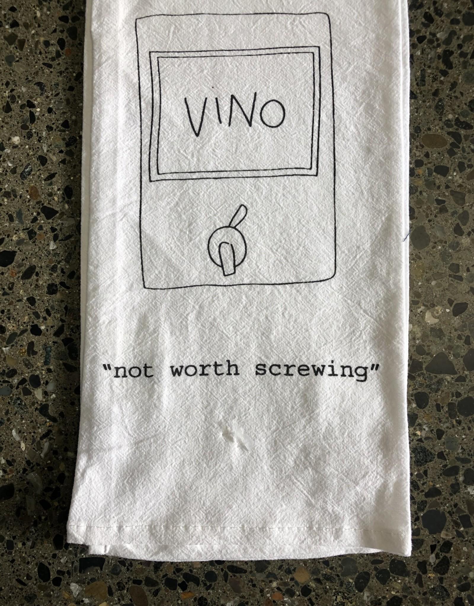 LeBLANC finds NOT WORTH SCREWING tea towel