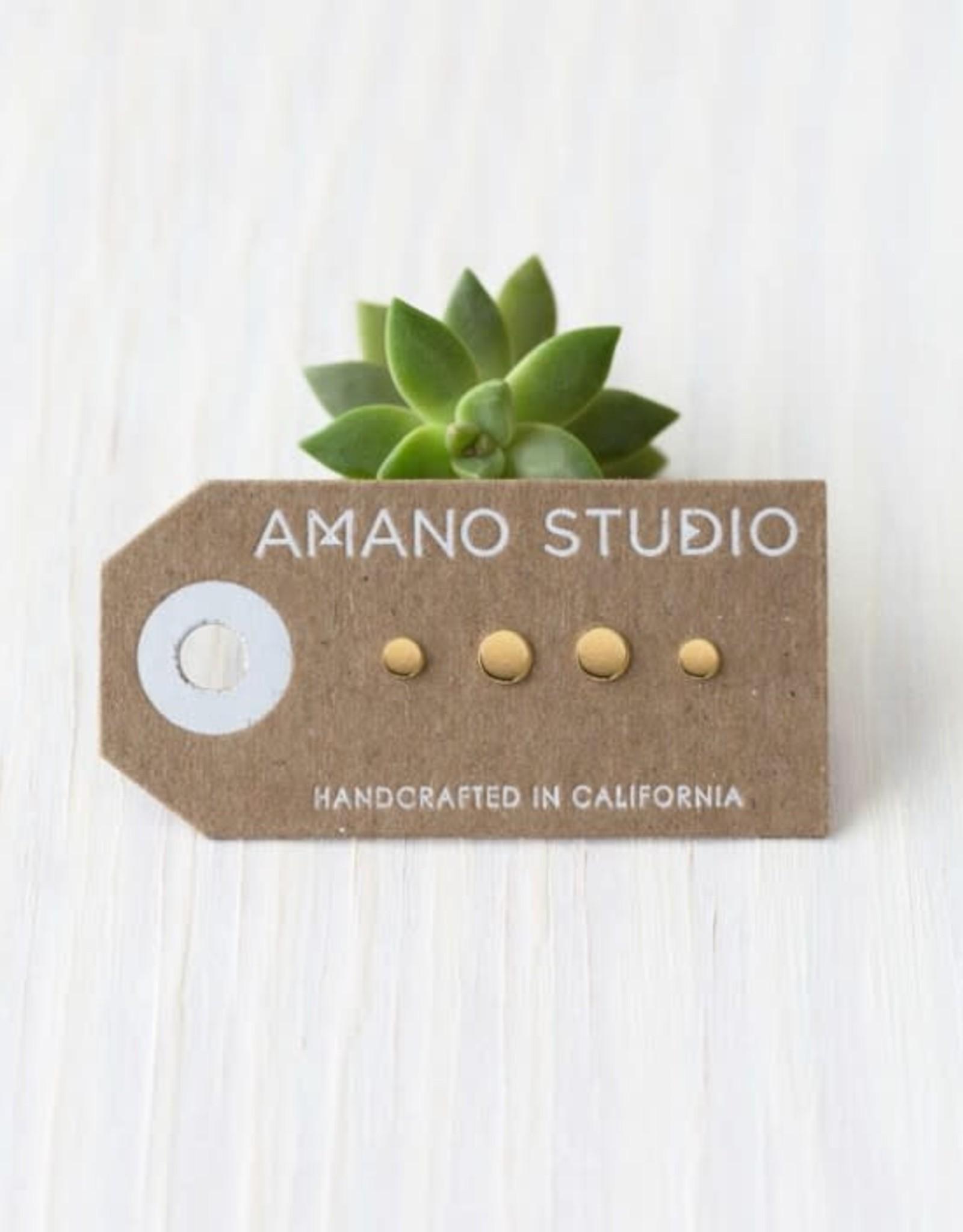 AMANO studio DOT DOT Combo Stud Set, 24k gold plated