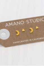 AMANO studio MYSTIC Combo Stud Set, 24k gold plated