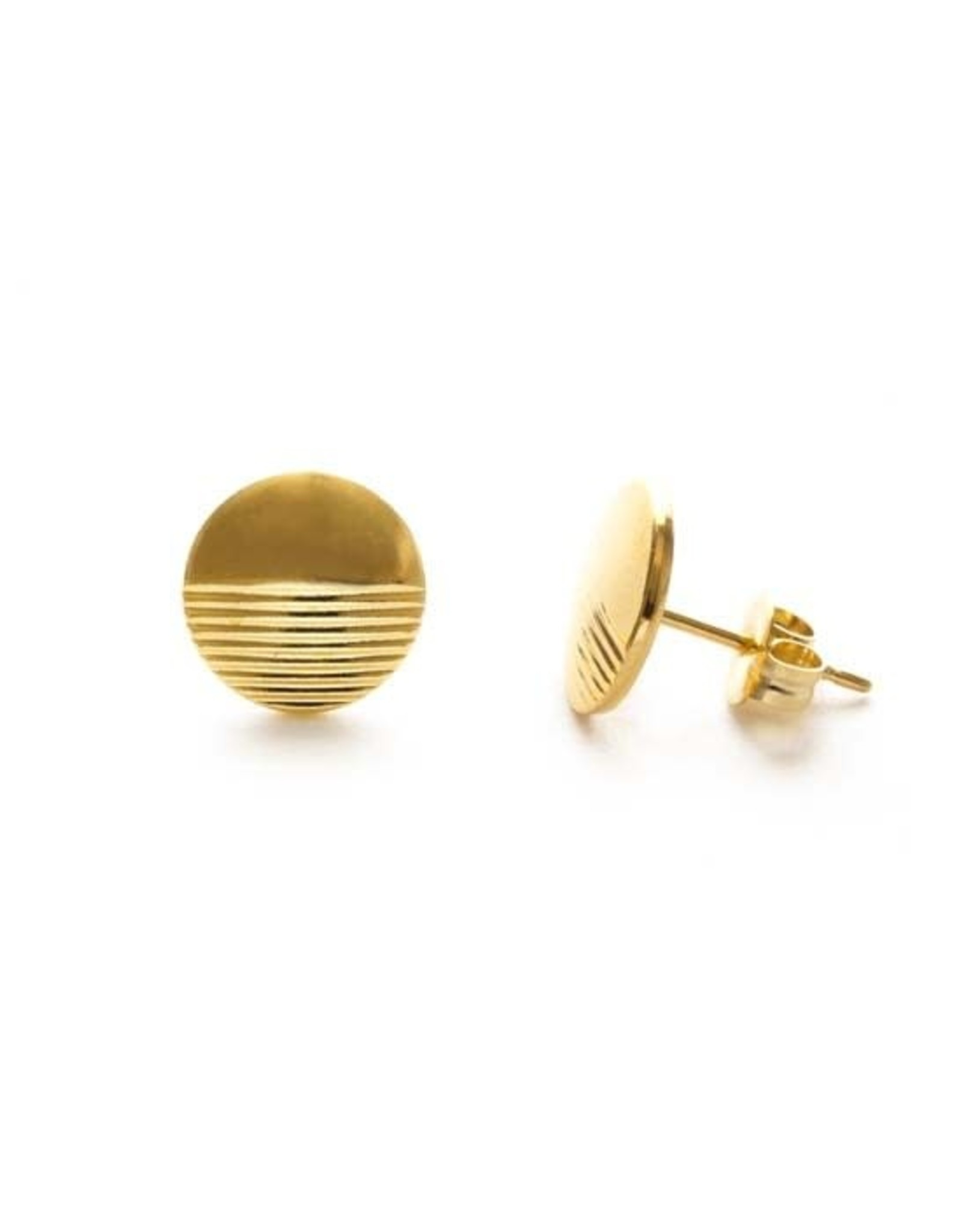 AMANO studio Circle Stud, 24k gold plated