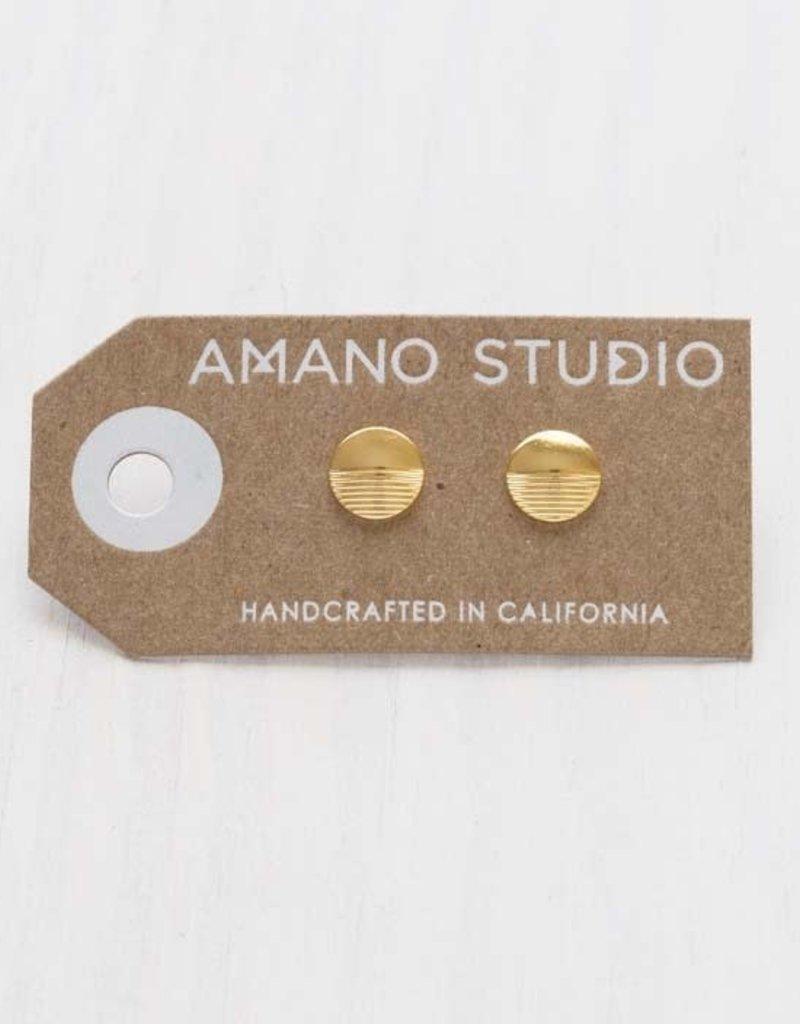 AMANO studio Circle Stud, 24k gold plated