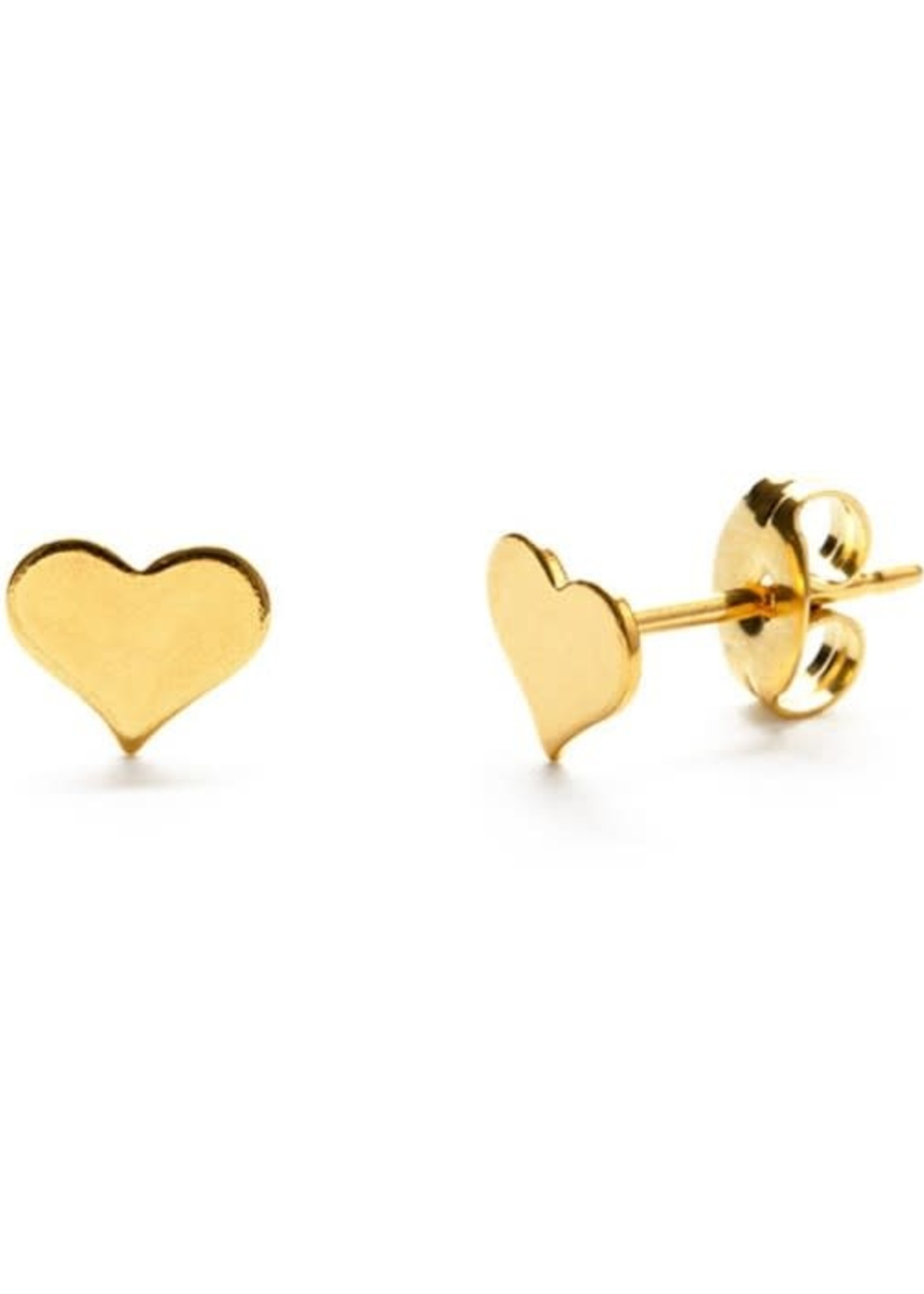 AMANO studio HEART studs, 24K gold plated