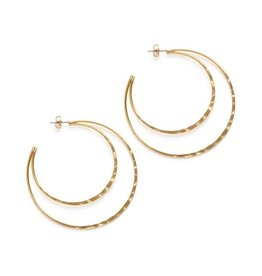AMANO studio DB hammered HOOPS, 24K gold plated