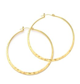 AMANO studio HAMMERED Hoops, 24K gold plated, 1.5""