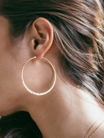 AMANO studio HAMMERED Hoops, 24K gold plated, 2""