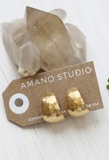 AMANO studio HAMMERED Vintage style Hoops, 14K gold Plated