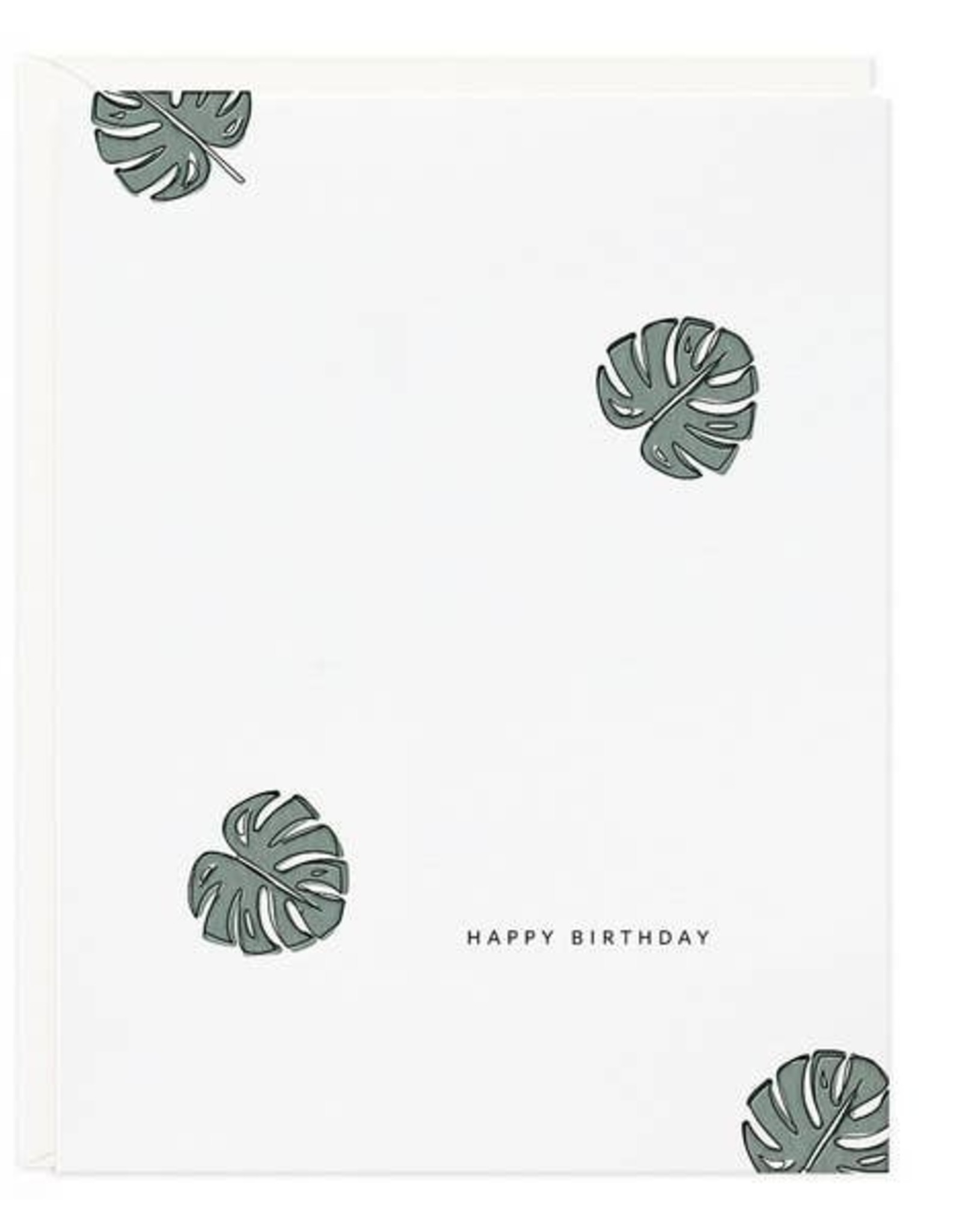 LeBLANC finds Philodendron Birthday Greeting Card