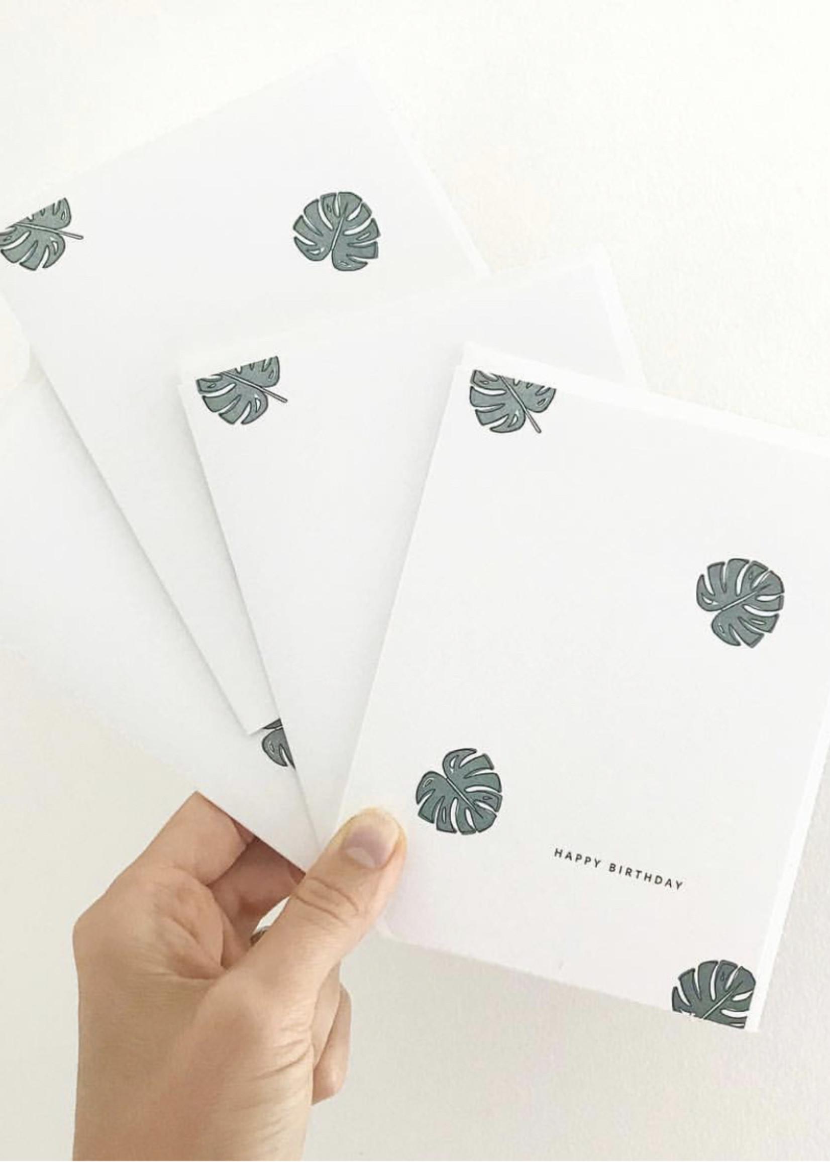 RAMONA + RUTH Philodendron Birthday Greeting Card