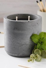 LeBLANC finds Peppermint and Eucalyptus Candle, Charcoal  colour