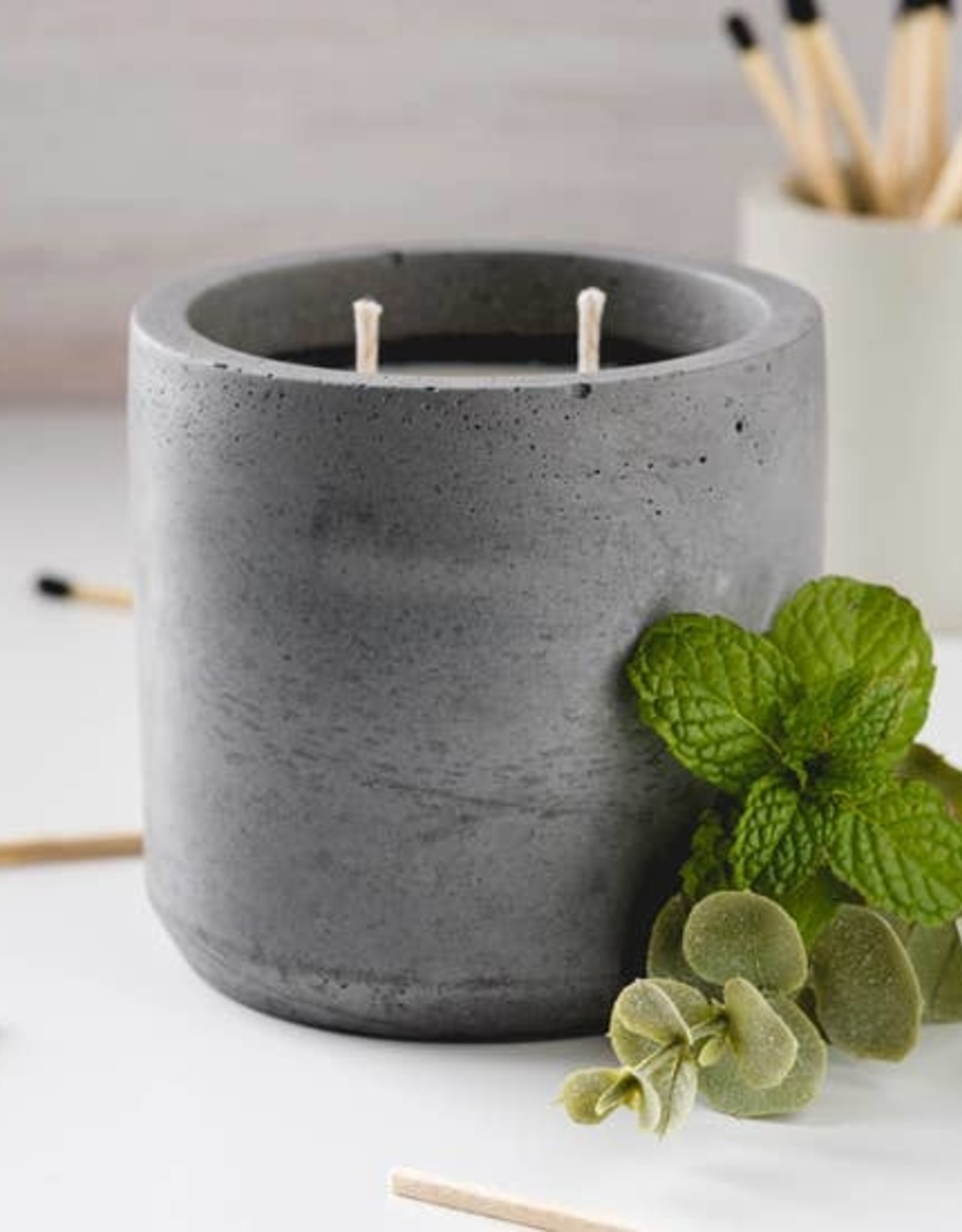 CORD +IRON Peppermint and Eucalyptus Candle, Charcoal  colour