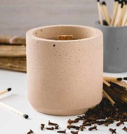 CORD +IRON Pumkin Spice Fireside Candle, wood wick