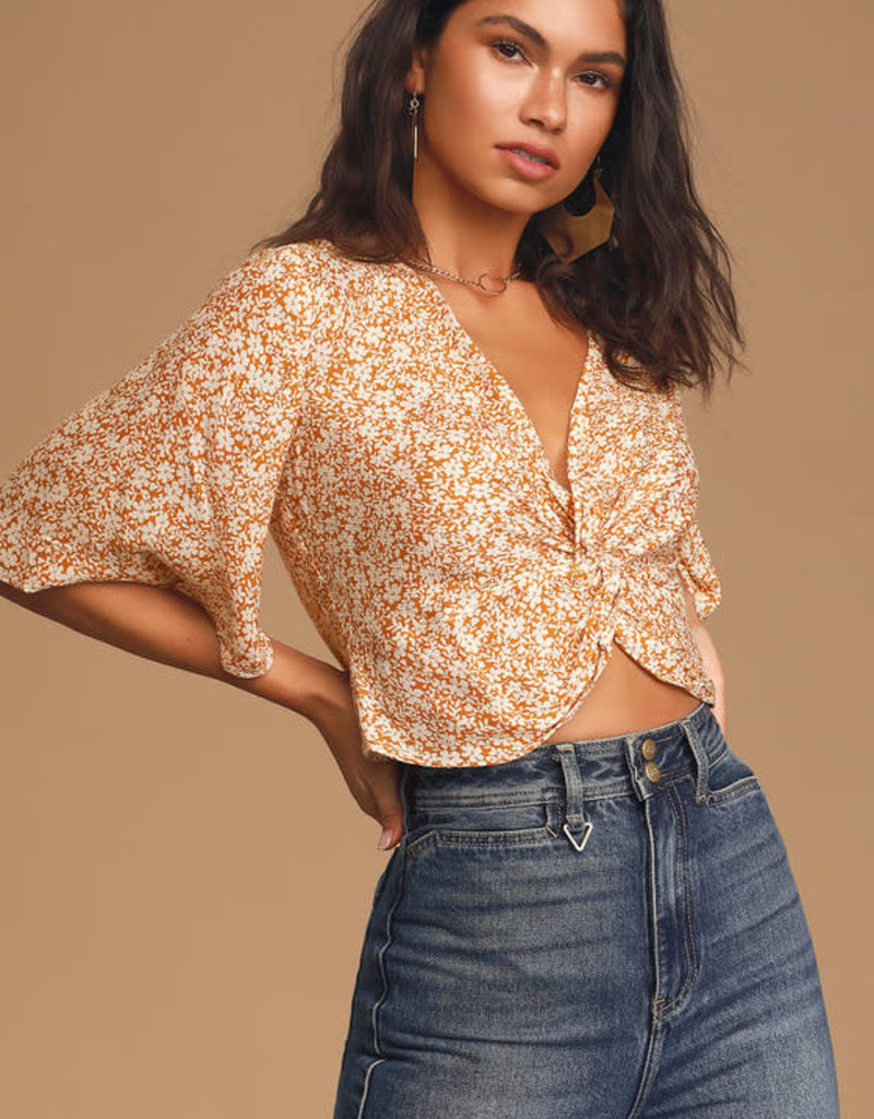 SAGE the LABEL WILD HONEY knot blouse
