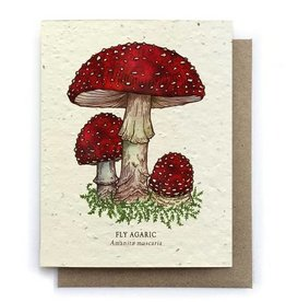 LeBLANC finds Fly Agaric Mushroom Greeting Cards - Plantable Seed Paper