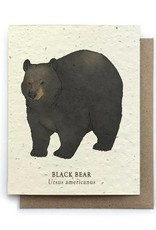 LeBLANC finds Black Bear Animal Greeting Cards - Plantable Seed Paper