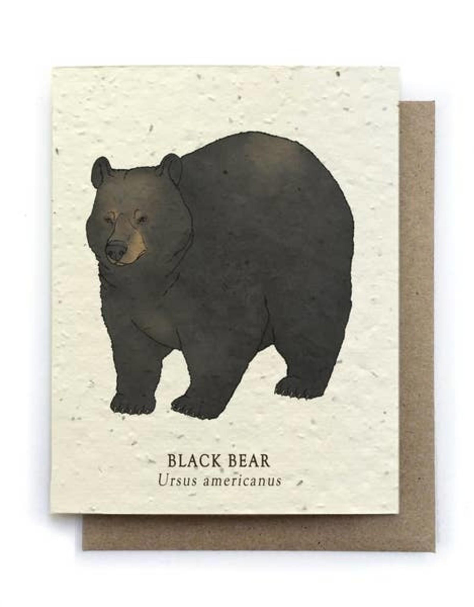 LeBLANC finds Black Bear Animal Greeting Cards - Plantable Seed Paper