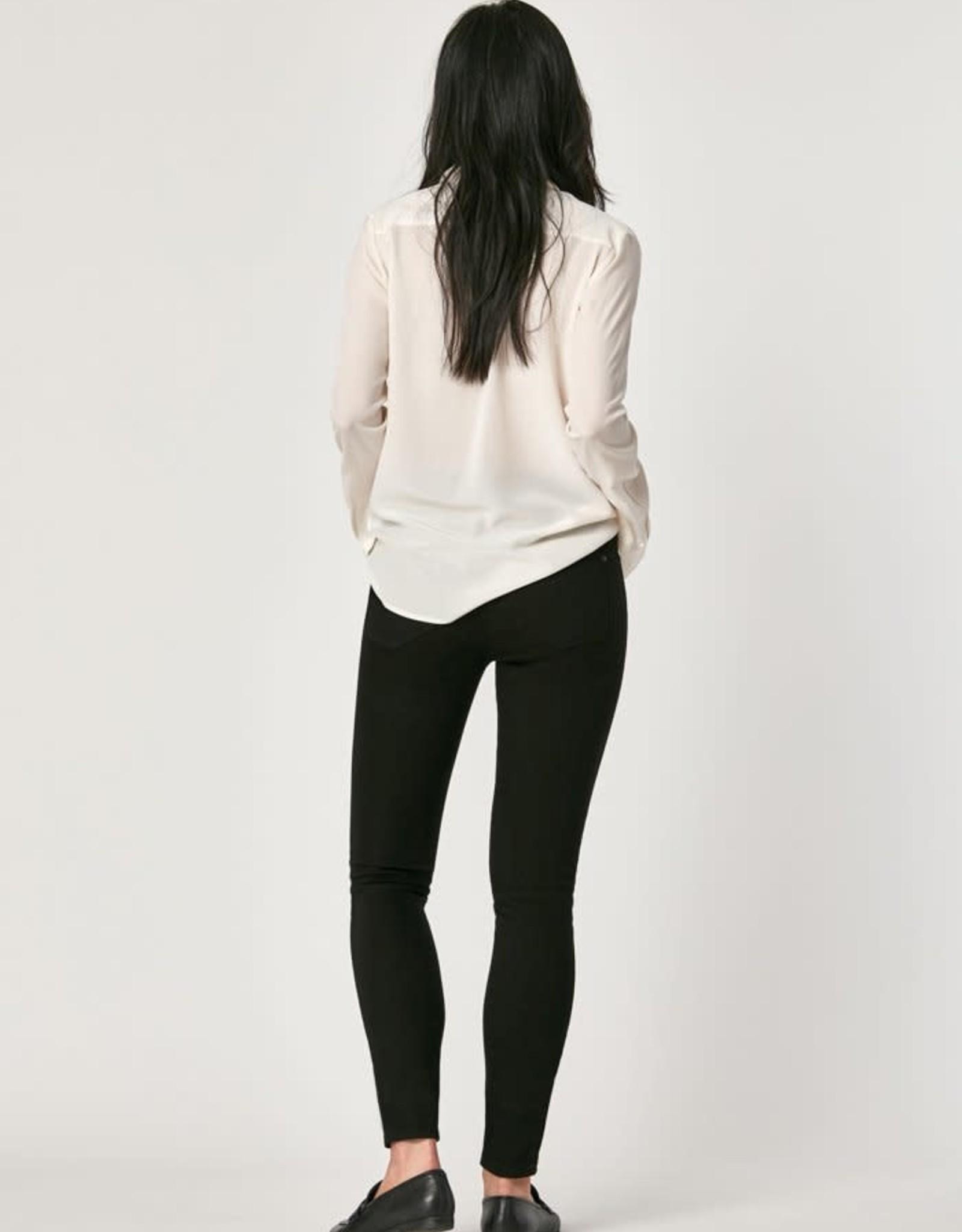 """MAVI Jeans TESS BLACK TRIBECA high waisted skinny jeans, 27"""" length"""