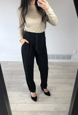 LeBLANC finds High waisted dress pants with waist tie